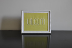 unicorn. (helenetraxler) Tags: typography crossstitch stitch embroidery crafts embroider