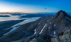 On top of it! (Per-Karlsson) Tags: mountain mountains norway coast dusk peak fjord sevensisters fjell helgeland sandnessjoen alstahaug alsten helgelandsbrua norwegiansea desyvsøstre canonef24105mmf40lisusm canoneos6d norwegiancoast
