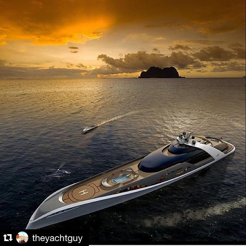 "Beautiful!!  #Repost @theyachtguy with @repostapp. ・・・ Yacht Concept ""7 C's"" 410ft (125m) By Drive Design 