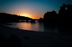 Praia dos Arrifes - Sunrise (Yannek99) Tags: beach portugal strand sunrise dawn rocks algarve sonnenaufgang atlanticocean albufeira felsen longtimeexposure 2015
