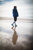 like walking on glass.. (paul.wienerroither) Tags: girl walking walk reflection beach water ocean oceanlove sky view sea winter winterescape shaddow photography canon 50mm 5dmk3 andalucia spain europe travel
