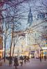 Photo Contest! (www.juliadavilalampe.com) Tags: vienna austria stars lights bokeh street urban night bluehour trees contest pleasevote thankyou mariahilferstrasse österreich wien viena christmas navidad weihnachten