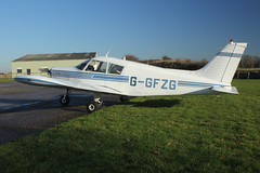 Piper PA-28-140E Cherokee G-GFZG (Old Buck Shots) Tags: egsv dm
