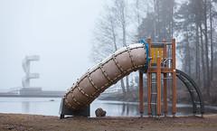 Depressing winter (KariFinland) Tags: canon 5dmk2 70200mm winter park dark lappeenranta suomi finland