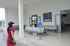 Wait here (Roving I) Tags: danabus danang publictransport depots facemasks girls longhair steel seating signs waitingrooms vietnam service