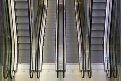 Escalators (Jan van der Wolf) Tags: roltrap roltrappen movingstaircase stairway symmetry stairs markthal escalator