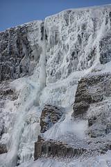 frozen Bjarnafoss waterfall (lunaryuna) Tags: iceland westiceland snaefellsnespeninsula mælifellmountain bjarnafosswaterfall frozen winter season seasonalwonders natureabstract lunaryuna