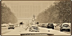 Hard winter in Bucharest: Snowstorm (Ioan BACIVAROV Photography) Tags: white snow neige zapada amazing minunat landscape snowstorm road romania people hiver hard hardwinter iarna iarnagrea fog photojournalism viscol bucuresti bucharest