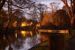 River Wey Guildford (tomsingleton) Tags: amateur 1300d canon glow vibrant naturalbeauty beaut nature reflection dusk sunset guildford river
