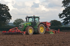 John Deere 7930 Tractor with a HE-VA Front Roller 400, an Amazone Power Harrow & Kverneland Accord S-Drill Seed Drill (Shane Casey CK25) Tags: john deere 7930 tractor heva front roller 400 amazone power harrow kverneland accord sdrill seed drill rathcormac green jd winter barley sow sowing set setting drilling tillage till tilling plant planting crop crops cereal cereals county cork ireland irish farm farmer farming agri agriculture contractor field ground soil dirt earth dust work working horse horsepower hp pull pulling machine machinery grow growing nikon d7100 traktor tracteur traktori trekker trator ciągnik onepass one pass