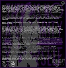 A world based on Mutal Respect (Doomsday Graphix) Tags: hardcore punk rock emo post garage diy grindcore metal crass discharge mob flux pink indians anarchy anarcho art anarchopunk anarchist conflict extreme antisect amebix disorder rudimentary peni doom death industrial music underground uk heavy deathmetal shoegaze 4ad heavymetal indie alternative anok anok4u2 peace pennyrimbaud1 penny rimbaud