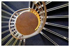 Spiral Staircase 2 (Dave Button) Tags: staircase stairs abstract above color colour