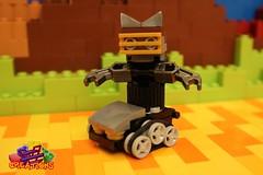 The Droid Family: Catty (EVWEB) Tags: lego creations ideas robot mecha droid wheels gears mixels moc klinkers family