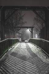 2017_01_14(18) (bas.handels) Tags: heerlen street night longexposure longexpo le snow sneeuw winter urban architecture bridge brug fuji fujixt1 xt1