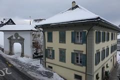 Stans (Priska B.) Tags: stans nidwalden knirigasse winter schnee gasse tor schweiz switzerland swiss svizzera haus gebäude pilatus