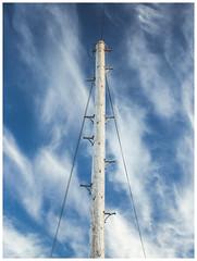 Telegraph Pole and Clouds, Dunbar (Gordon_Farquhar) Tags: dunbar west barns beach lothian ness lighthouse torness power station scotland scottish east coast