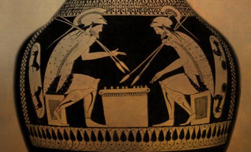 "Petteia - Ludus Latrunculorum  / Iconografía de las civilizaciones helenolatinas • <a style=""font-size:0.8em;"" href=""http://www.flickr.com/photos/30735181@N00/32522193195/"" target=""_blank"">View on Flickr</a>"