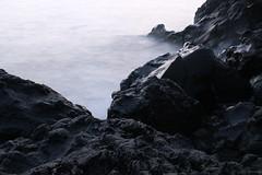 Chilled Lava (Derbyshire Harrier) Tags: sea predawn longexposure spring stromboli aeolianislands sicily morning basalt lava 2016 blackbasalt shore mediterranean tyrrheniansea ngc