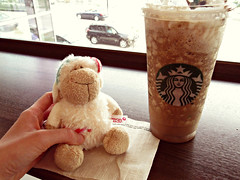 Let's have a mocha frappucino (Janet (citrusacid)) Tags: animal toy stuffed candy sheep character small plush jolly nici 15cm