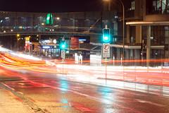 Charlestown (Hugo Balzac) Tags: road longexposure wet rain night nikon traffic outdoor tripod australia headlights nsw charlestown lighttrails lakemacquarie d7100