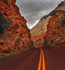 On the (red) road (Robyn Hooz) Tags: road red utah strada layers zion geology roccia rosso strati