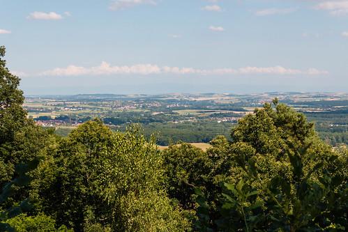 Vue sur Steinbourg depuis le Mont Saint-Michel à Saint-Jean-Saverne