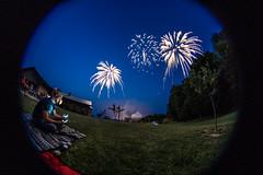The Fourth Encompassed (JakobKeith) Tags: sony 4th july firework fisheye alpha 8mm f35 a7ii rokinon