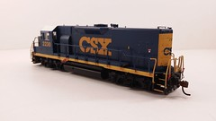 CSX - MATE (Road Slug) #2230 Dark Future Paint Scheme - Former GP35 (Conductors Rear 3-4) - HO Scale - KATO kit-bash - July 29, 2015 - K. Crawley (dcmkris) Tags: atlas csx hoscale gp402 custompainted darkfuture roadslug mothermate