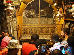 Inside the church Jesus was born, Bethlehem, West Bank, Palestine!