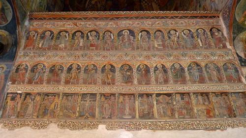 Curtea d'Arges - Biserica Domnească, iconostasis - registers of apostles, prophets and saints
