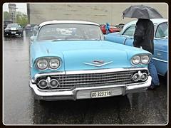 Chevrolet Impala 1958 (v8dub) Tags: auto old classic chevrolet car schweiz switzerland automobile gm suisse general live automotive voiture motors chevy american 1958 oldtimer oldcar impala collector wagen luterbach pkw klassik worldcars