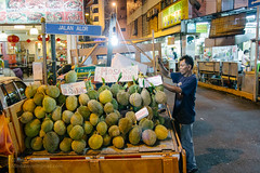 Durians, Kuala Lumpur (Colum O'Dwyer) Tags: street fruit night travels market streetphotography malaysia durian tropical kualalumpur colum durians colcum columodwyer