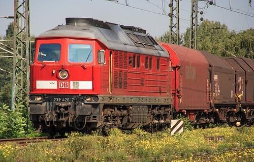 07.09.2005 Duisburg Abz Ruhrtal. DB 232 426 mit Coilzug Abz Lotharstrasse
