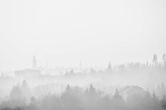 Bergamo (Claudio Nozza) Tags: landscape autumn winter fog foggy misty colors nature light sun birds italy bergamo