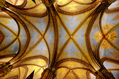 Matthias Church in Budapest, Hungary (` Toshio ') Tags: toshio budapest hungary matthaischurch catholic ceiling gothic history fujixe2 xe2 europe european europeanunion gold interior architecture building pattern religion