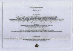 Kreuzfahrt mit der Queen Elizabeth (Speisekarte Teil 2) (Günter Hentschel) Tags: 25 silberhochzeit queenelizabeth qe queen cunard speisekarte essen text