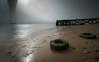 Rubber garden (marcolemos71) Tags: seascape water river sand tire oldpier bridge fog light tagusriver lowtide longexposure leesw150 littlestopper leend09h trash lisbon marcolemos