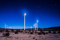 Moon Light Windmills (LXG_Photos) Tags: analog film night sky windmills ocotillo longexposure desert southwest