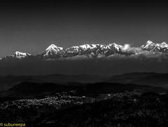 Annapurna Range (neepa_chat) Tags: worldtrekker sarangkot pokhra himalaya nepal mountain range annapurna white black