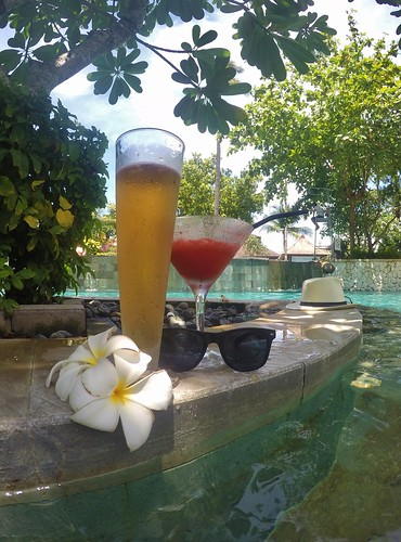 Bintang and Strawberry Daiquiri