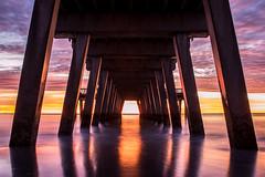 Under the Pier (EML.photography) Tags: savannah tybee georgia atlantic coast sunrise pier tybeeisland barrierisland