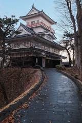 Pathway (Dominic Sagar) Tags: fujifilm japan t050 t100 t200 xt1 castle tower akitashi akitaken jp