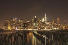City Lights... (The Hitchhiker's Guide) Tags: newyork manhattan manhattanskyline brooklynbridge brooklyn brooklynbridgepark financialdistrict wallstreet