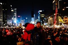 Gwanghamun Square (denzildeanuk) Tags: protest south korea children politics candlelit city architecture selfie digital modern documentary reportage photography travel