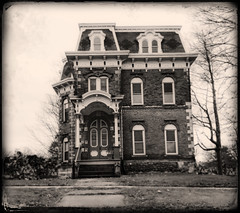 In My Time (drei88) Tags: mansard secondempire haunting spooky victorian grim imposing dark tintype