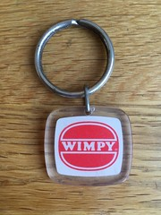 Wimpy keyring (Phil Gyford) Tags: uk 1970s keyring wimpy