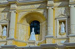 """Route of the Mayas"", Antigua, Guatemala, Monasterio La Merced, Overseas Adventure Tours"", visitors (David McSpadden) Tags: route mayas antigua guatemala monasteriolamerced overseasadventuretours visitors windows baroquefacade stucco plaster"