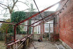 Broken-Prompt4-Project52 (walkerkp) Tags: greenhouse abandoned broken brokendown rust ivy bricks louisville kentucky