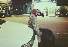 18/365 Granny (Wenchieh Yang) Tags: documentary street oldman vsco 老人 台南 台灣 愛台灣 welovetaiwan iphone iphone365 tainan taiwan yellow blue black b light night green wow flickrclickx