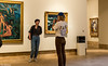 A Photo in the Gallery (Thad Zajdowicz) Tags: zajdowicz pasadena california availablelight lightroom canon eos 5dmarkiii dslr digital primelens 50mm ef50mmf12lusm 5d3 couple people man woman indoor inside nortonsimonmuseum art painting gallery candid unposed